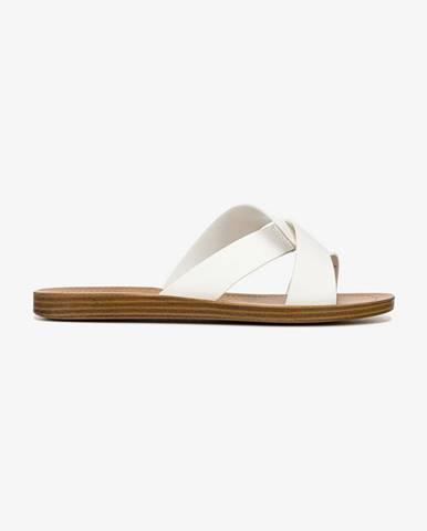 Biele papuče Steve Madden