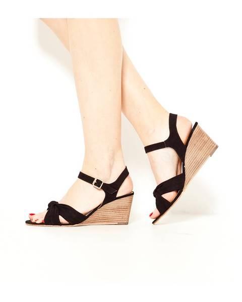 Čierne sandále CAMAIEU