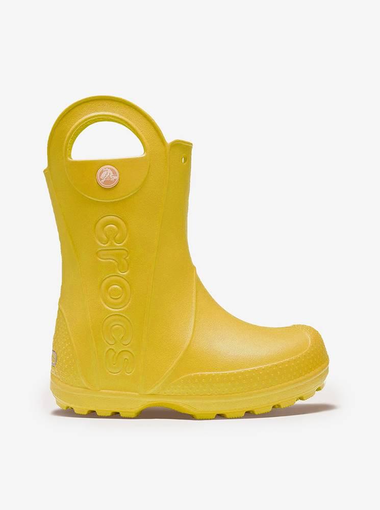 Crocs Žlté drtské čižmy