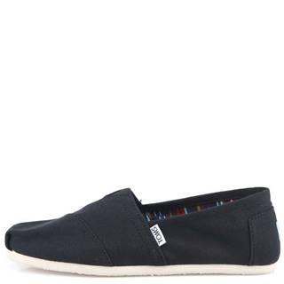 Čierne dámske loafers  Canvas Classic