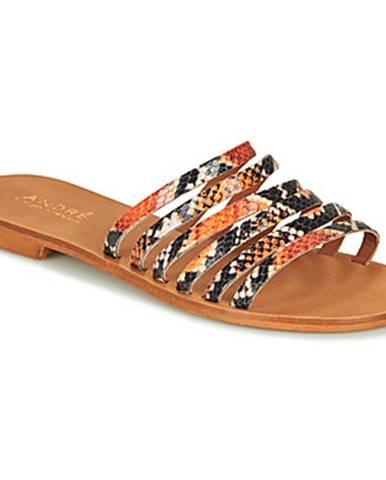 Oranžové sandále André