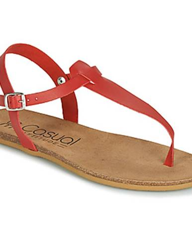Červené sandále Casual Attitude