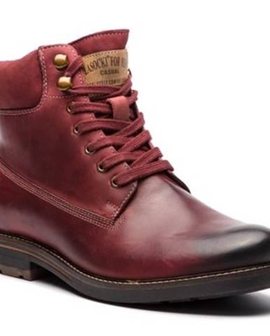 Tmavočervené topánky Lasocki for men