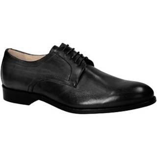 Derbie Leonardo Shoes  05798/FORMA 40 FULL NERO