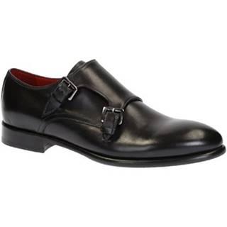 Mokasíny Leonardo Shoes  06417 VITELLO NERO