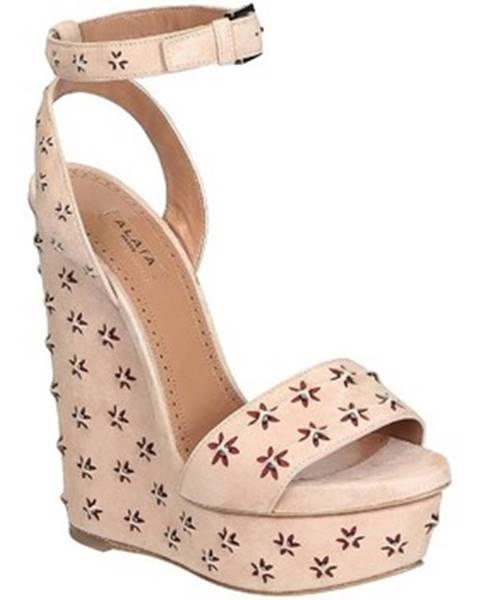 Béžové topánky Alaa