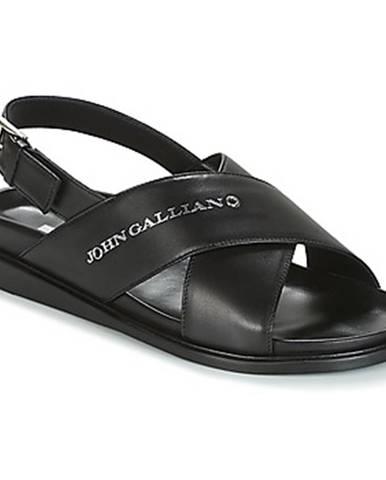 Čierne sandále John Galliano