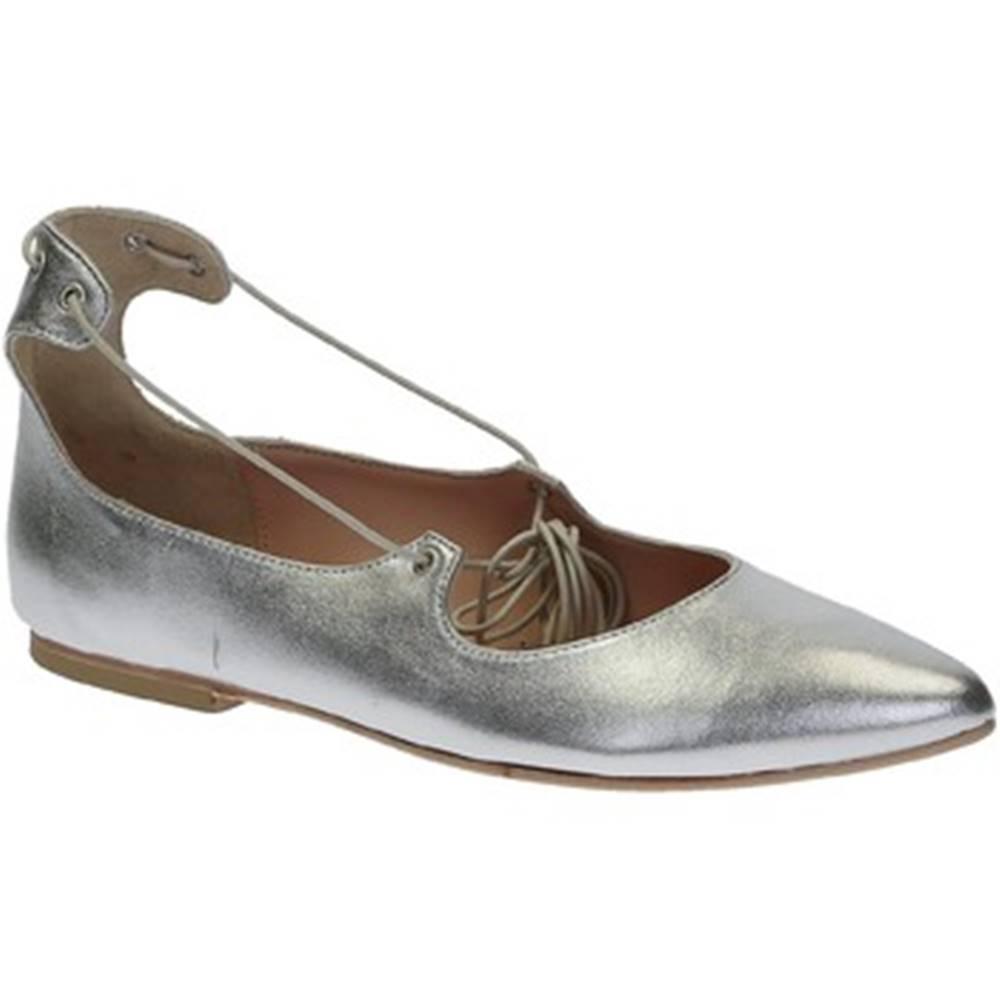 Leonardo Shoes Balerínky/Babies Leonardo Shoes  117-30 CUOIO NAPPA ARGENTO