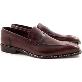 Mokasíny Leonardo Shoes  2816/10 TEMP.DELAVE CORDOVAN