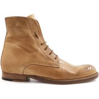 Polokozačky Leonardo Shoes  2514/1 PAPUA MICROF.CUOIO