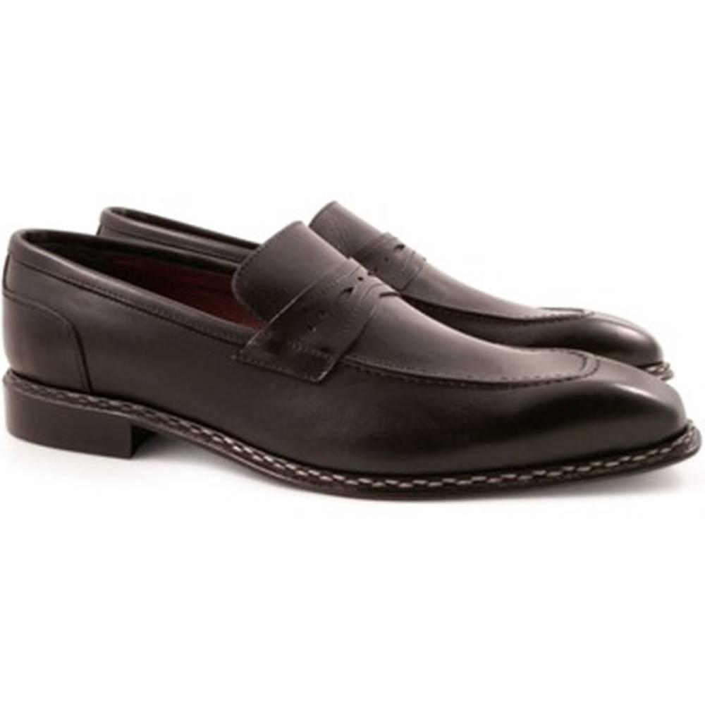 Leonardo Shoes Mokasíny Leonardo Shoes  2816/10 TEMP.DELAVE NERO