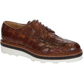 Derbie Leonardo Shoes  ROBY PE VITELLO CUOIO 6082