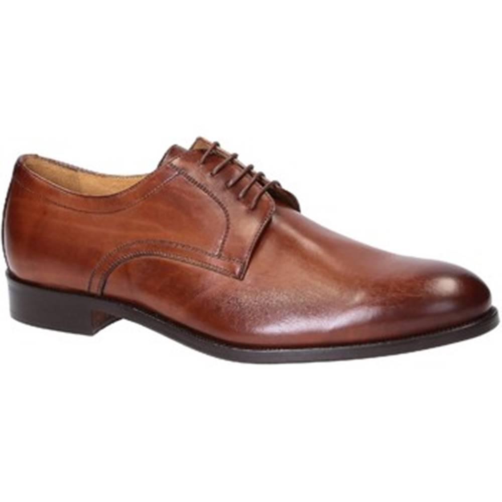Leonardo Shoes Derbie Leonardo Shoes  05798/FORMA 40 FULL NOCE