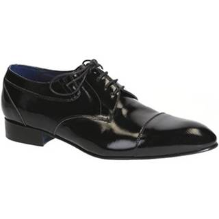 Derbie Leonardo Shoes  023-17 PE CANAPA NERO