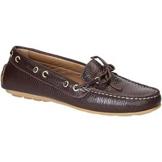 Mokasíny Leonardo Shoes  3040 VITELLO-GOMMA MORO
