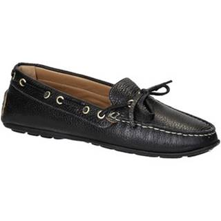 Mokasíny Leonardo Shoes  3040 VITELLO-GOMMA NERO