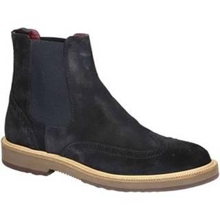 Polokozačky Leonardo Shoes  U581 PE CROSTA IN BL 8263 C024