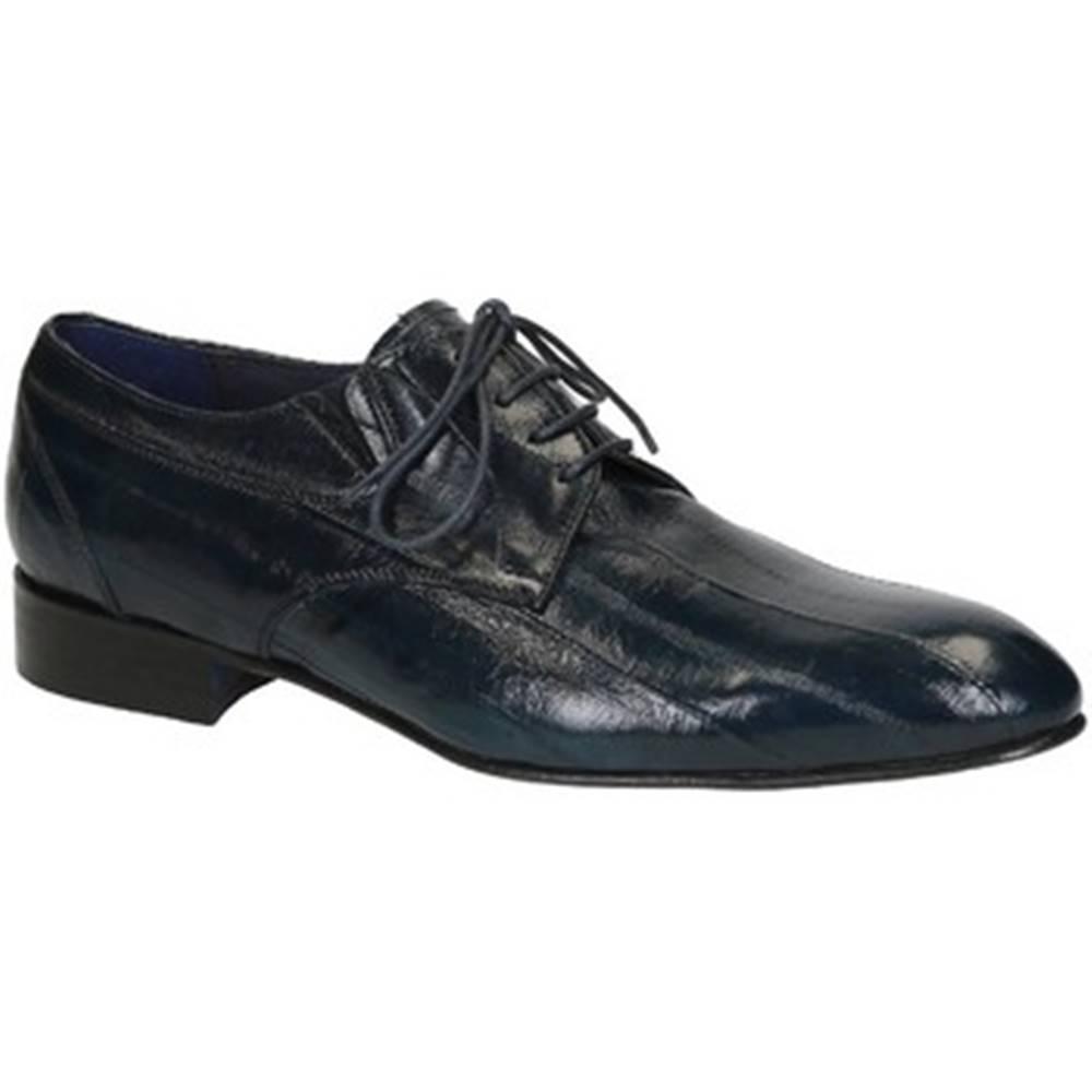 Leonardo Shoes Derbie Leonardo Shoes  020-17 PE ANGUILLA BLU