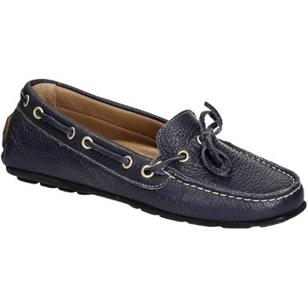 Leonardo Shoes Mokasíny Leonardo Shoes  3040 VITELLO-GOMMA BLU REALE