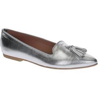 Balerínky/Babies Leonardo Shoes  117-20 CUOIO NAPPA ARGENTO