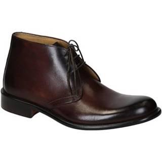 Polokozačky Leonardo Shoes  T032 SIVIGLIA BRUCIATO