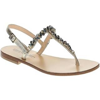 Sandále Leonardo Shoes  13/17 PLATINO/BLU TC 10
