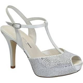 Sandále Leonardo Shoes  S2710 SATIN BIANCO T 2693P F LUCY