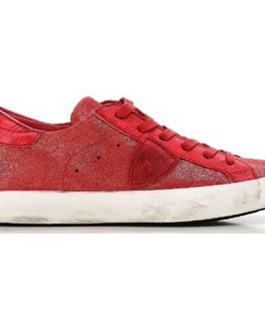Červené tenisky Philippe Model