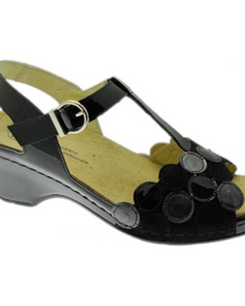 Čierne topánky Calzaturificio Loren