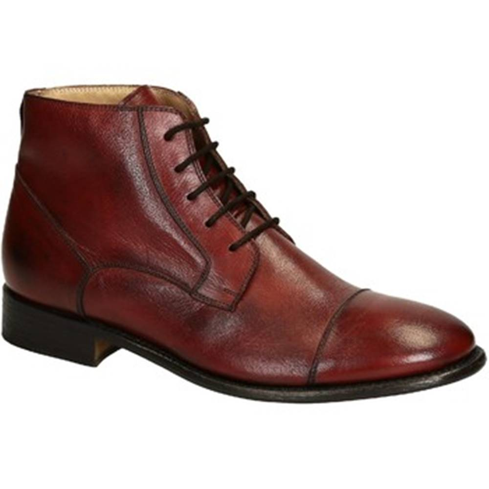 Leonardo Shoes Polokozačky Leonardo Shoes  PINA 3022 CAVALLO MARANJA