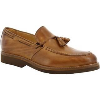 Mokasíny Leonardo Shoes  07013 FULL TAN