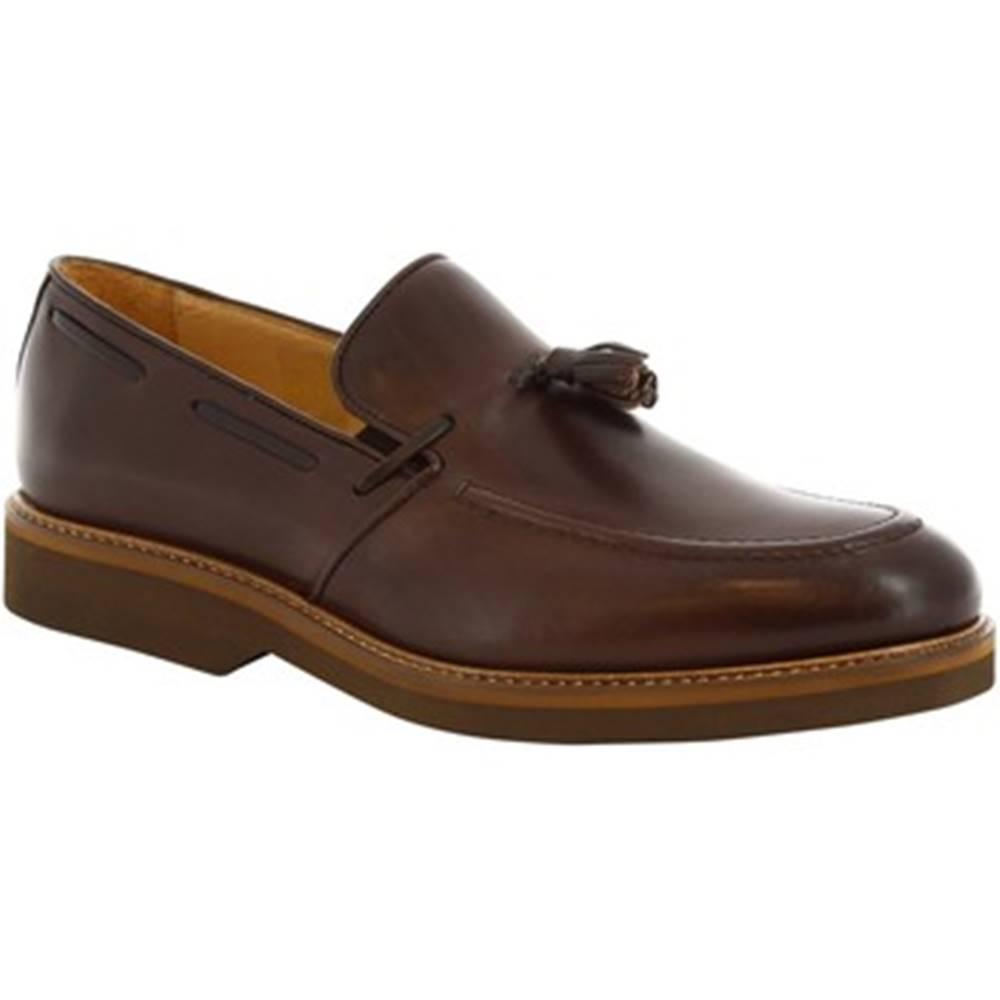 Leonardo Shoes Mokasíny Leonardo Shoes  07013 FULL CIOCCOLATO
