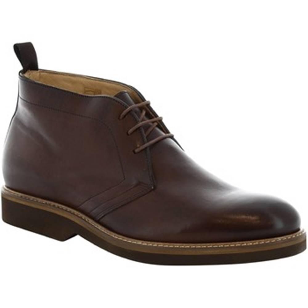 Leonardo Shoes Polokozačky Leonardo Shoes  07037 FULL CIOCCOLATO