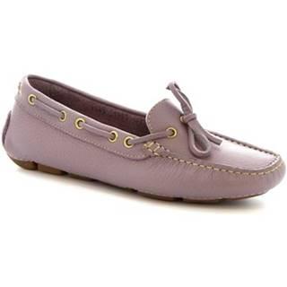 Balerínky/Babies Leonardo Shoes  7502A MOUSSE VIOLET