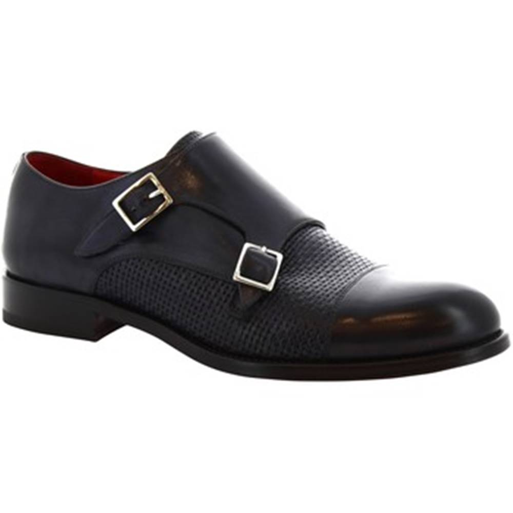 Leonardo Shoes Derbie Leonardo Shoes  8619E19 TOM VITELLO DELAVE BLU