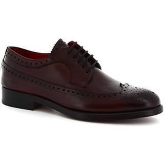 Derbie Leonardo Shoes  8116I18 TOM VITELLO DELAVé BORDEAUX