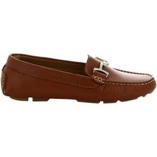 Mokasíny Leonardo Shoes  227  VITELLO TAN