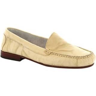 Mokasíny Leonardo Shoes  318 STROPICCIATO PANNA FONDO CUOIO