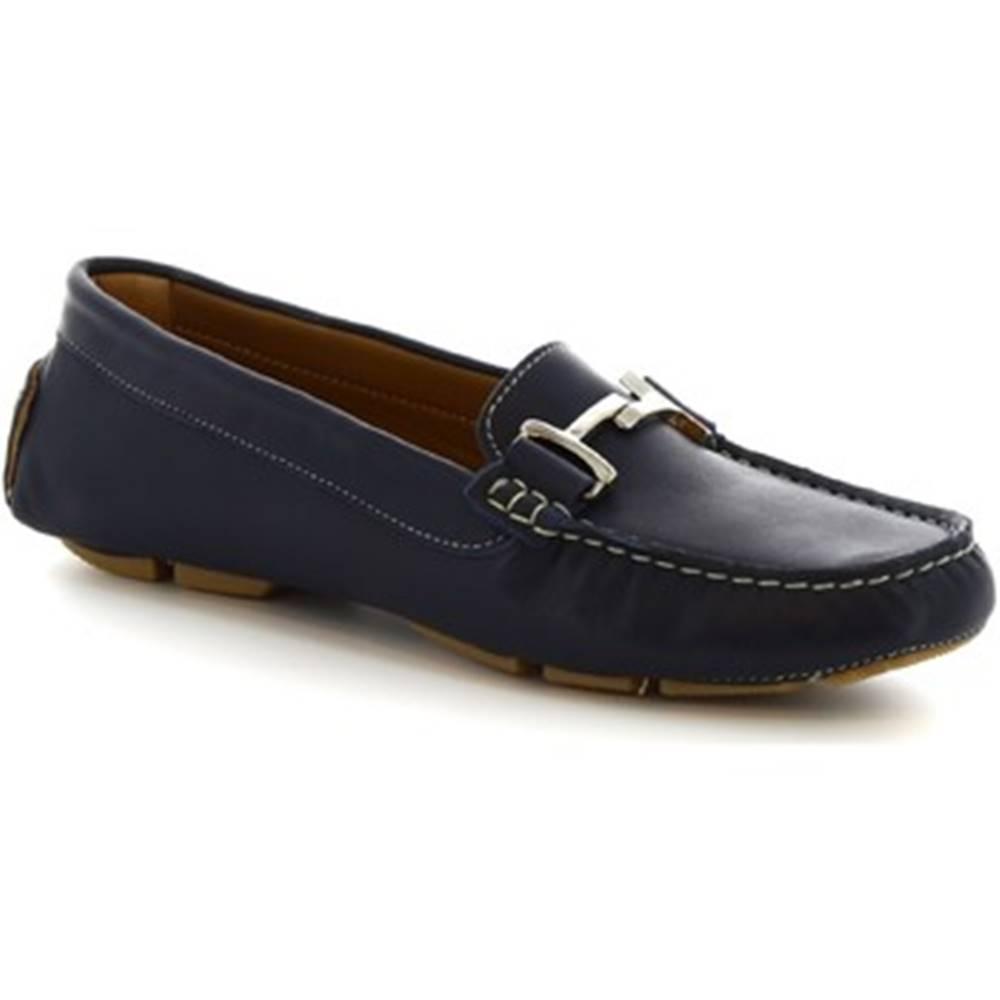 Leonardo Shoes Mokasíny Leonardo Shoes  227 VITELLO BLEU