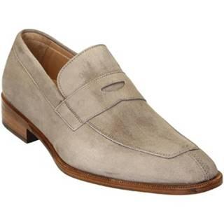 Mokasíny Leonardo Shoes  PINA 8 CAMOSCIO TAUPE