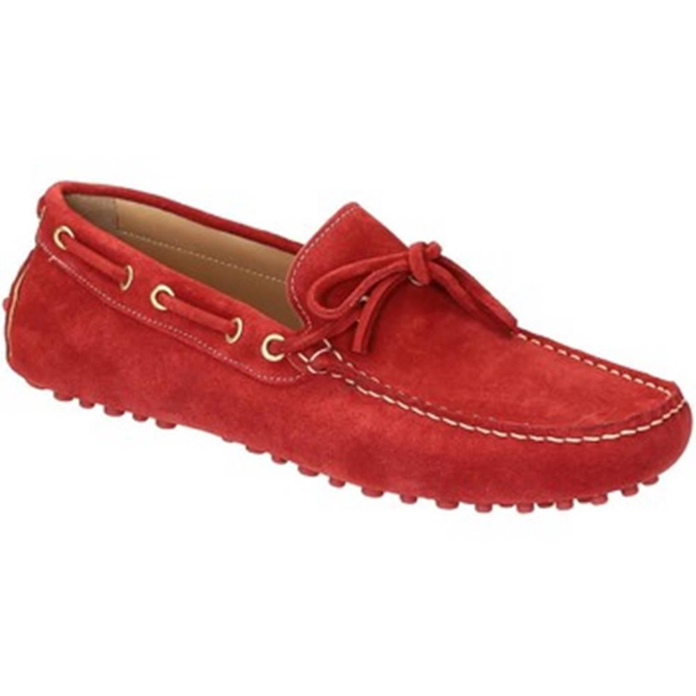 Leonardo Shoes Mokasíny Leonardo Shoes  502 CAMOSCIO ROSSO PIOLI
