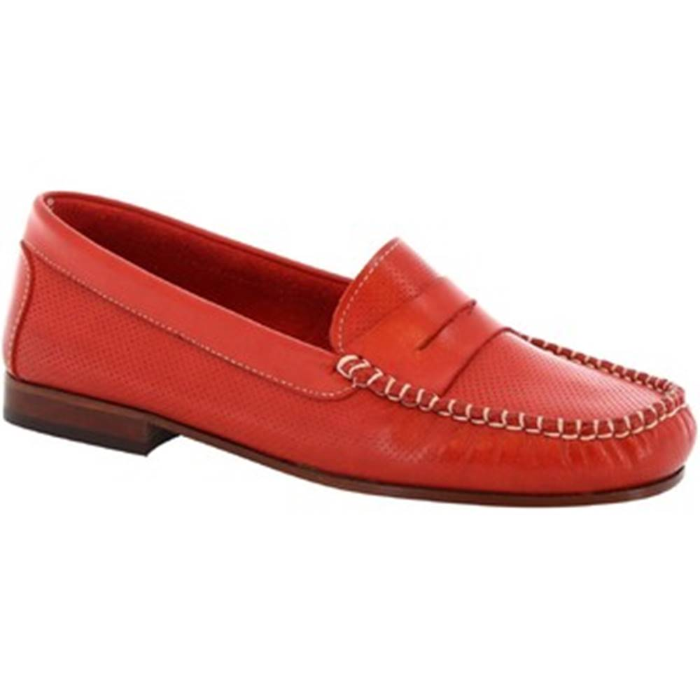 Leonardo Shoes Balerínky/Babies Leonardo Shoes  2591 VITELLO ROSSO