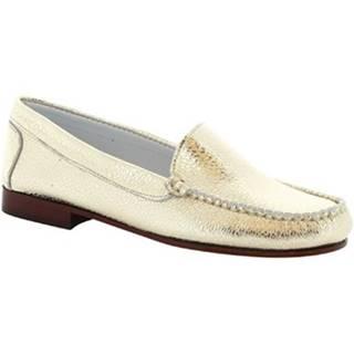 Balerínky/Babies Leonardo Shoes  318 EQUIPAGE PLATINO