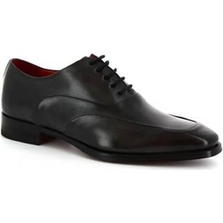 Derbie Leonardo Shoes  8741E19 VITELLO DELAVé GRIGIO
