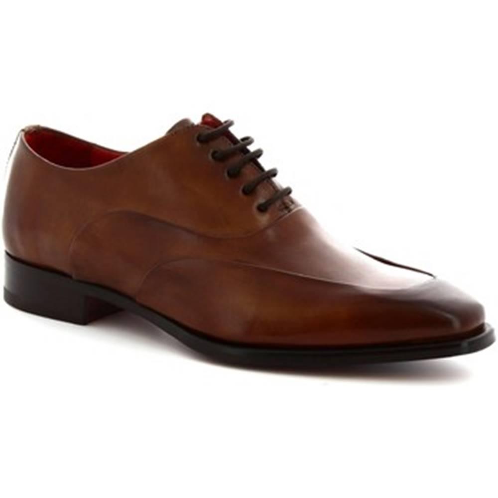 Leonardo Shoes Derbie Leonardo Shoes  8741E19  VITELLO DELAVé BRANDY