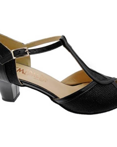 Čierne topánky Angela Calzature