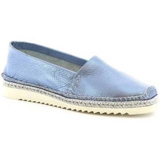 Mokasíny Leonardo Shoes  010 PERLATO BLEU