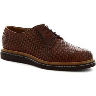 Derbie Leonardo Shoes  1019_3 PE VITELLO CUOIO
