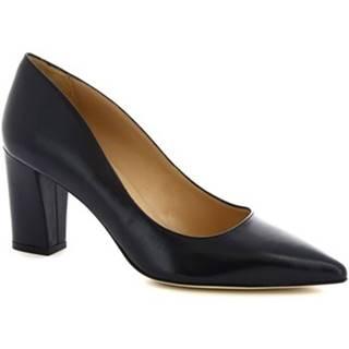 Lodičky Leonardo Shoes  CINDY NAPPA BLU