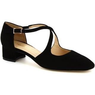 Sandále Leonardo Shoes  8104 CAMOSCIO NERO